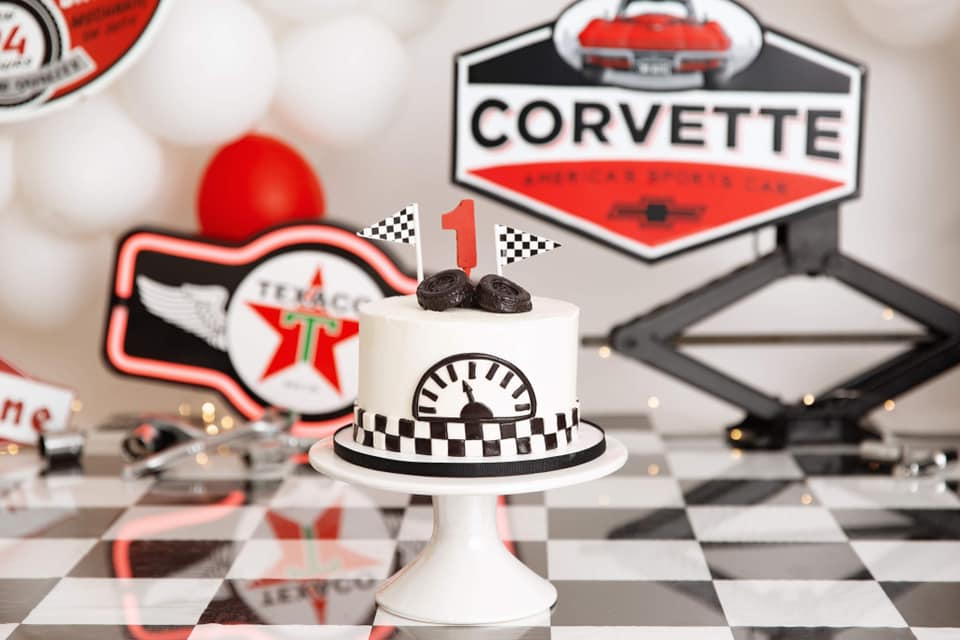 Clearwater Fl,  Custom Racecar Smash Cake