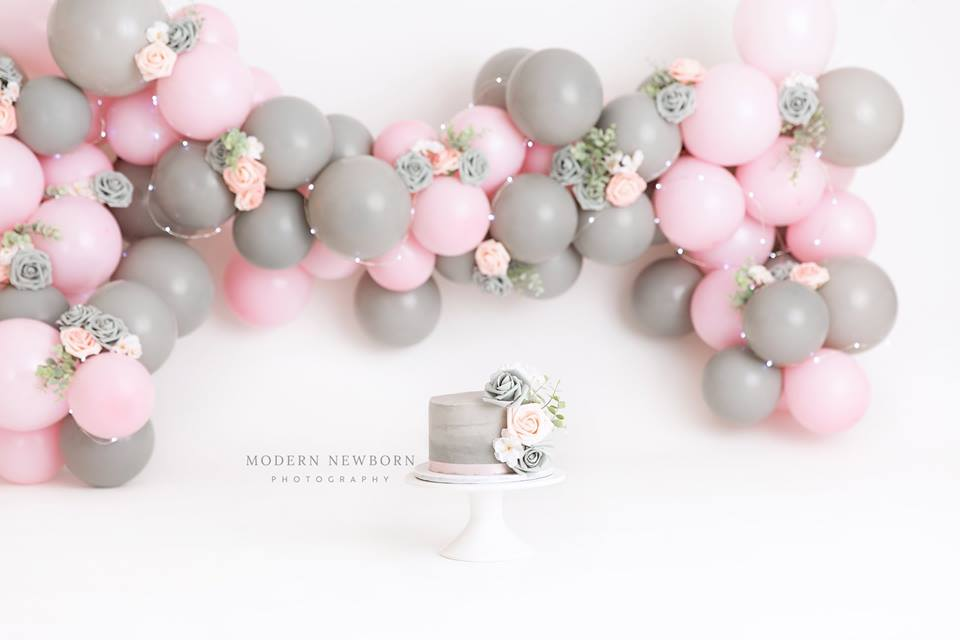 Clearwater Fl,  Custom Grey and Pink Smash Cake