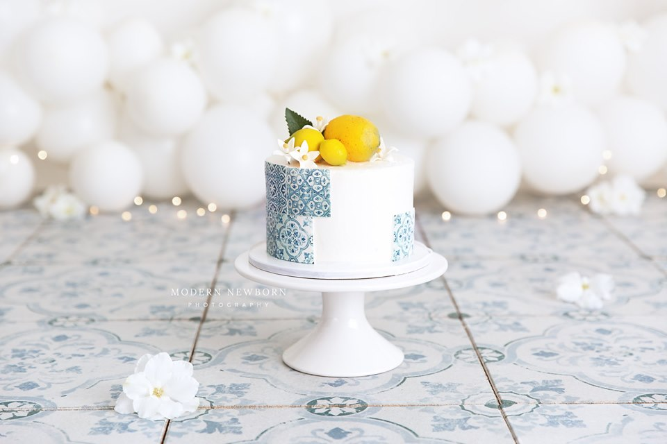 Clearwater Fl,  Custom Lemon Tile Smash Cake